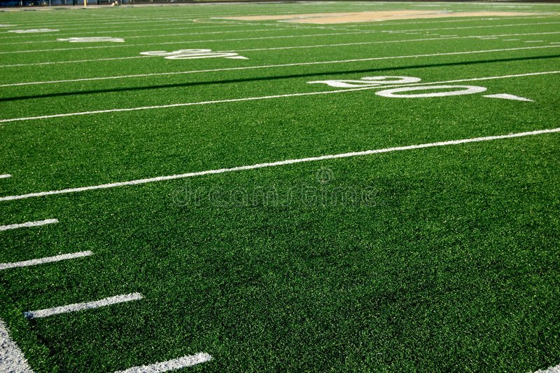 Ligne de yard du football 20 image stock