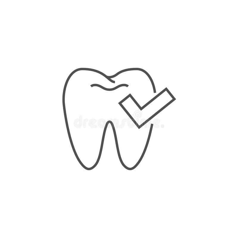 Ligne dentaire icône de contrôle illustration stock