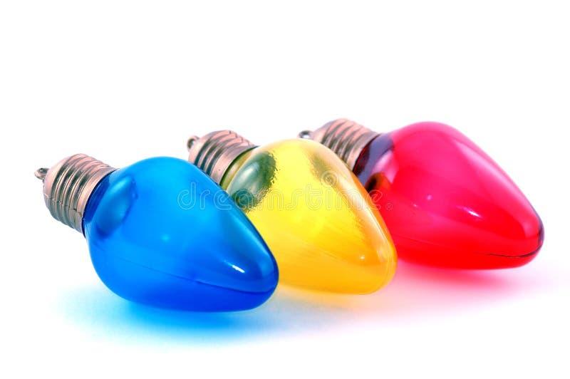 Ligne des ampoules colorées image libre de droits