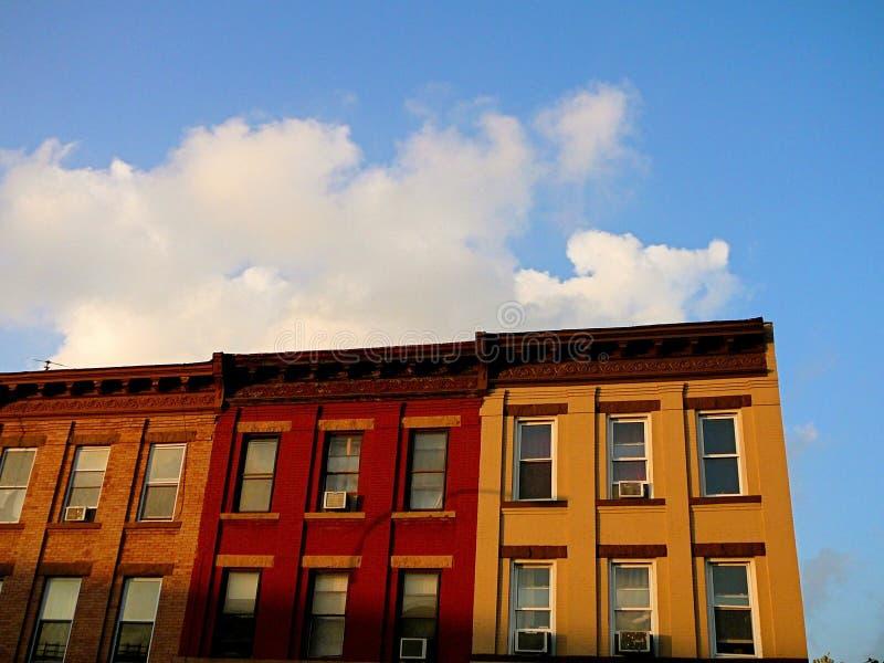 Ligne des appartements de Brooklyn image stock