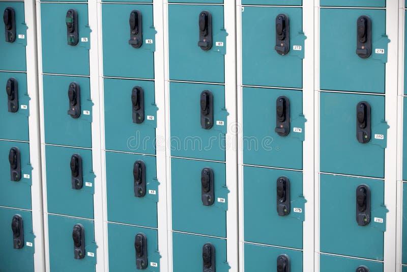 Ligne des casiers photo libre de droits