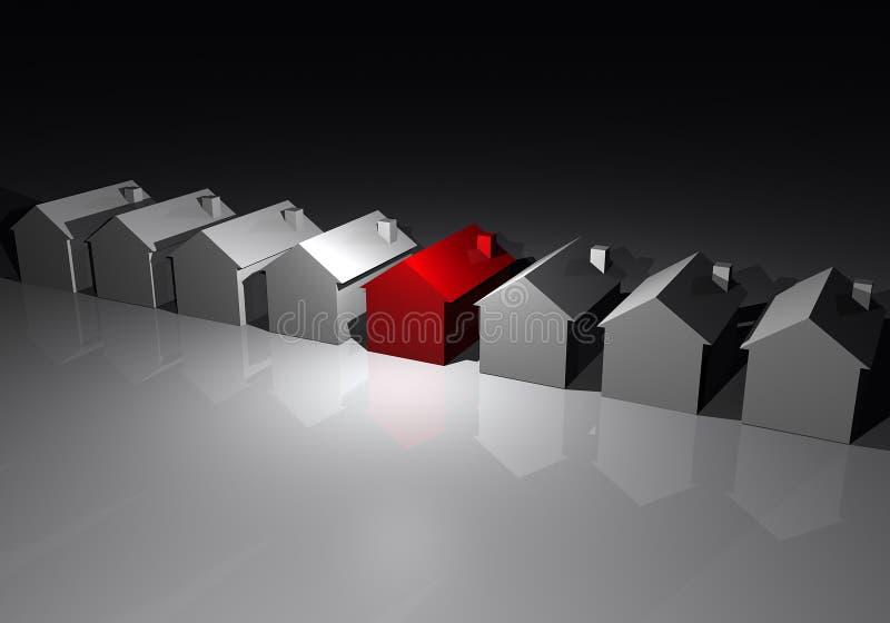 Ligne des maisons illustration libre de droits
