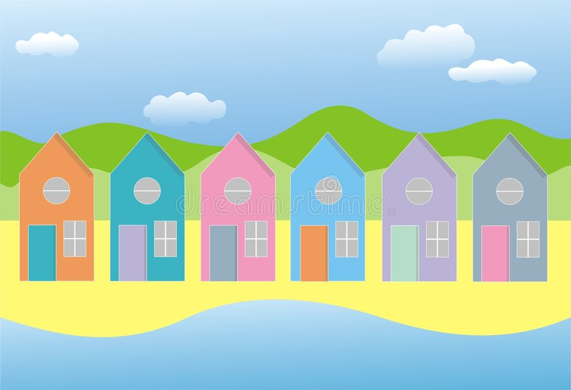 Ligne des maisons illustration stock