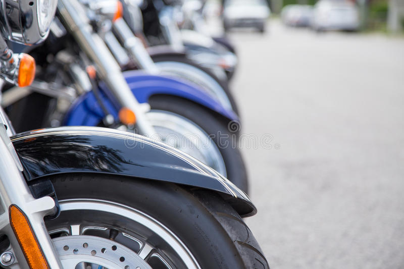 Ligne des motos image libre de droits