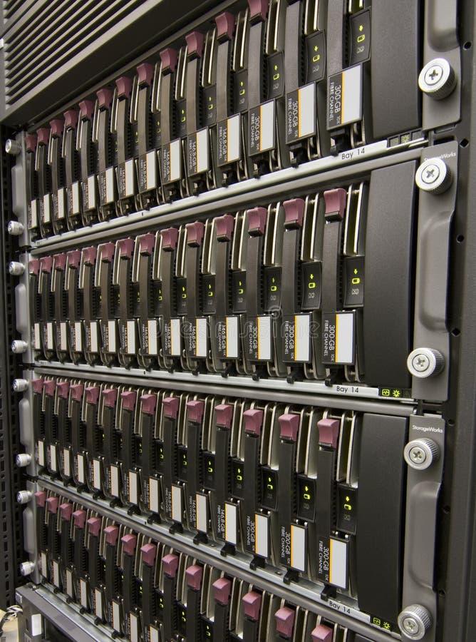 Ligne des unités de disque dur photos libres de droits