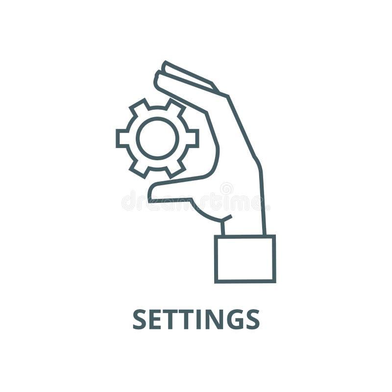 Ligne disponible icône, concept linéaire, signe d'ensemble, symbole de vecteur de vitesses d'arrangements illustration stock