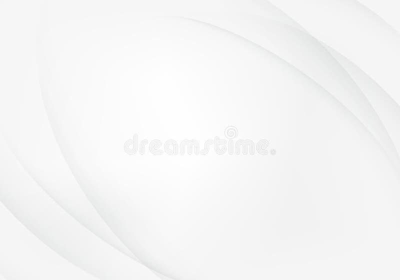 Ligne douce abstraite futuriste molle modèle de courbe de bruissement de gris Illustration de vecteur illustration libre de droits