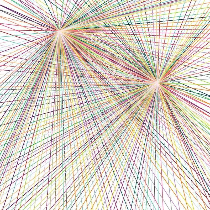 Ligne droite de couleur de dispersion, fond abstrait illustration libre de droits