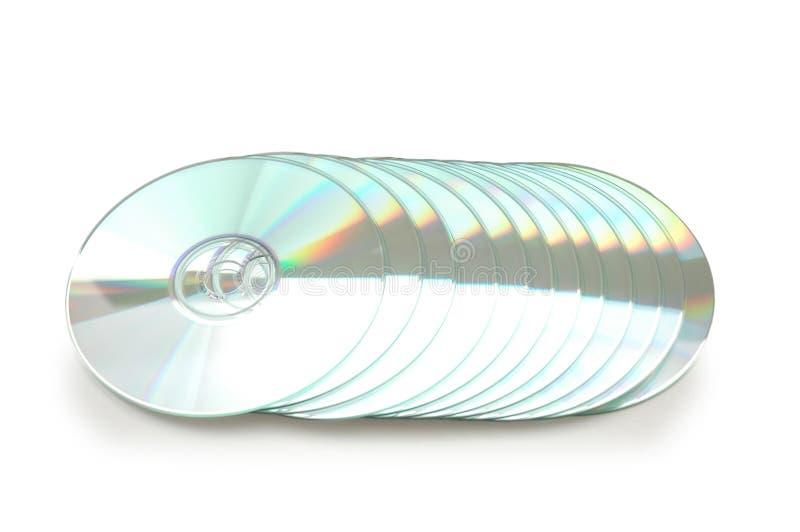 Ligne du CD d'isolement photographie stock