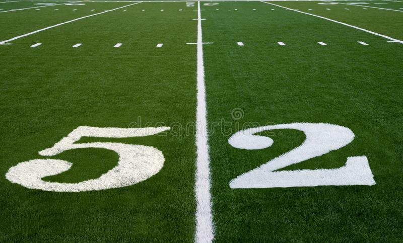 Ligne du terrain de football 52 image libre de droits