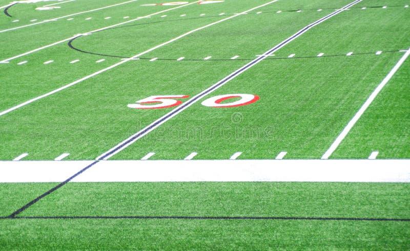 Ligne du terrain de football 50 image libre de droits