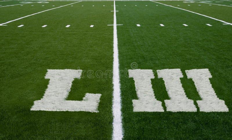 Ligne du terrain de football LIII images stock