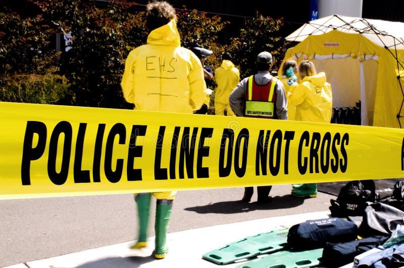 Ligne-EHS de police photographie stock
