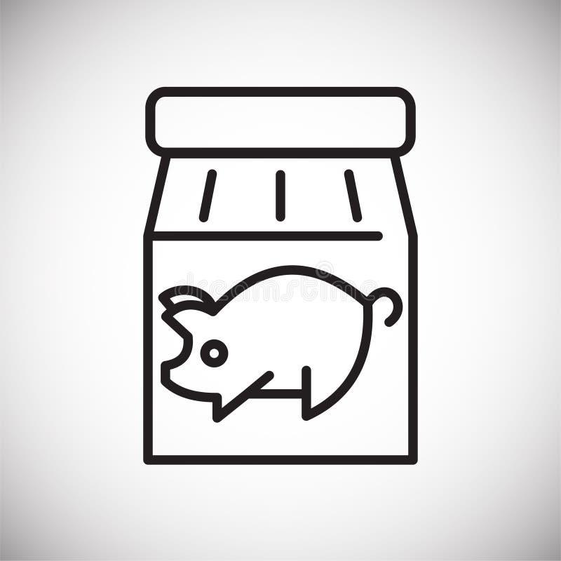 Ligne en boîte icône de viande sur le fond blanc pour le graphique et la conception web, signe simple moderne de vecteur Internet illustration de vecteur