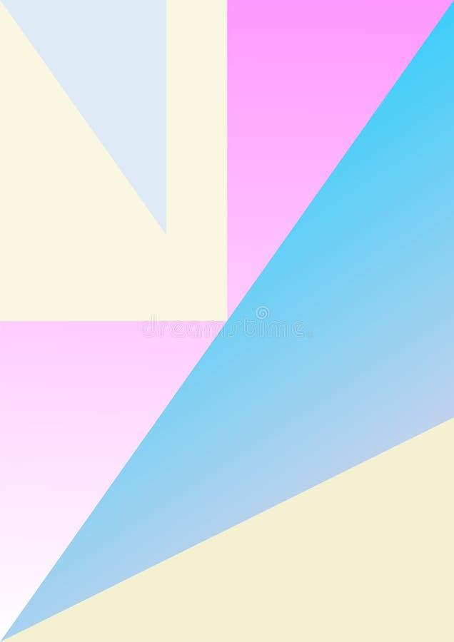 Ligne en pastel abstraite couleur en pastel de forme de fond de minimalis de papier coloré photos stock