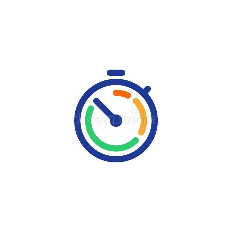 Ligne ensemble d'icône, la livraison rapide, service rapide, heures de travail de horodateur illustration libre de droits