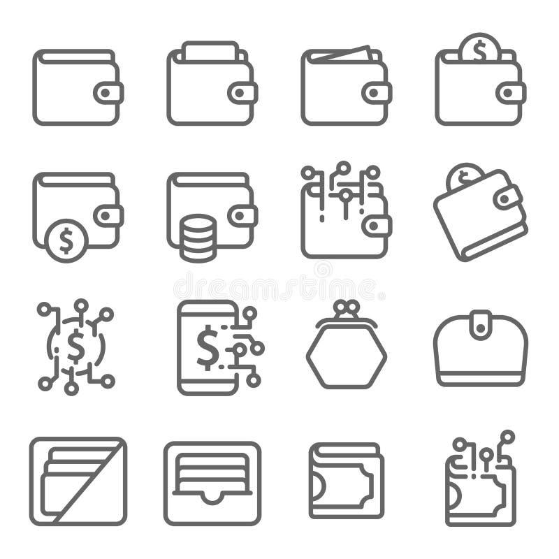 Ligne ensemble de vecteur de dessert d'icône Contient des icônes telles que le petit gâteau, beignet, Macaron, pudding et plus Co illustration de vecteur