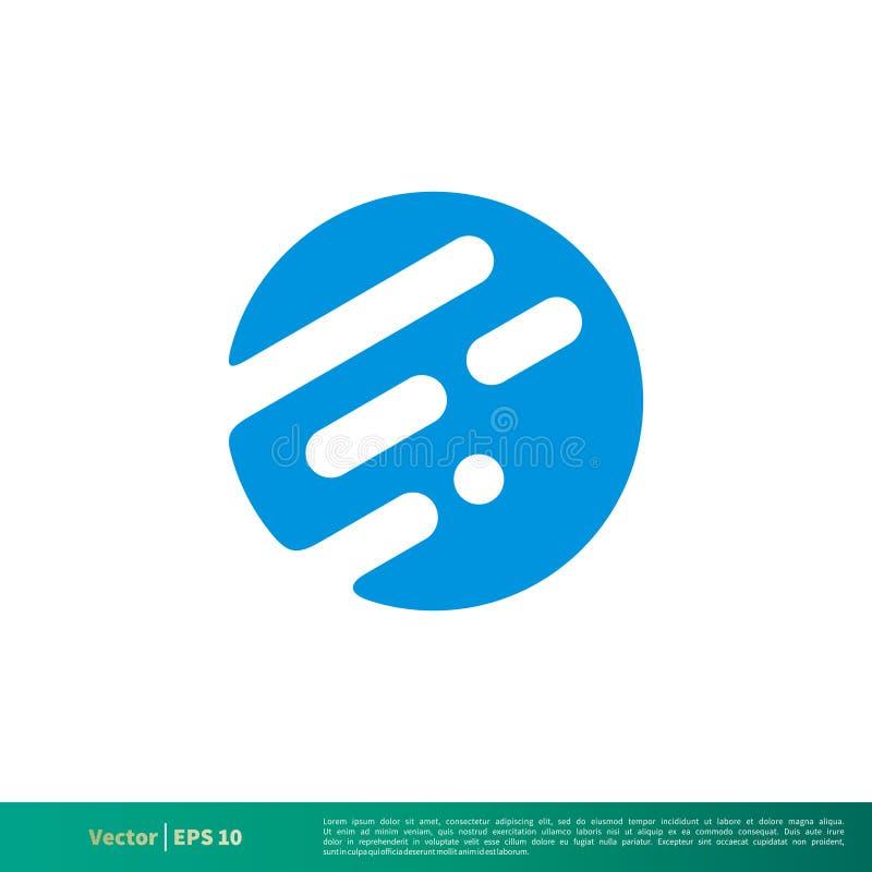 Ligne et conception abstraites d'illustration de Dot Icon Vector Logo Template Vecteur ENV 10 illustration libre de droits
