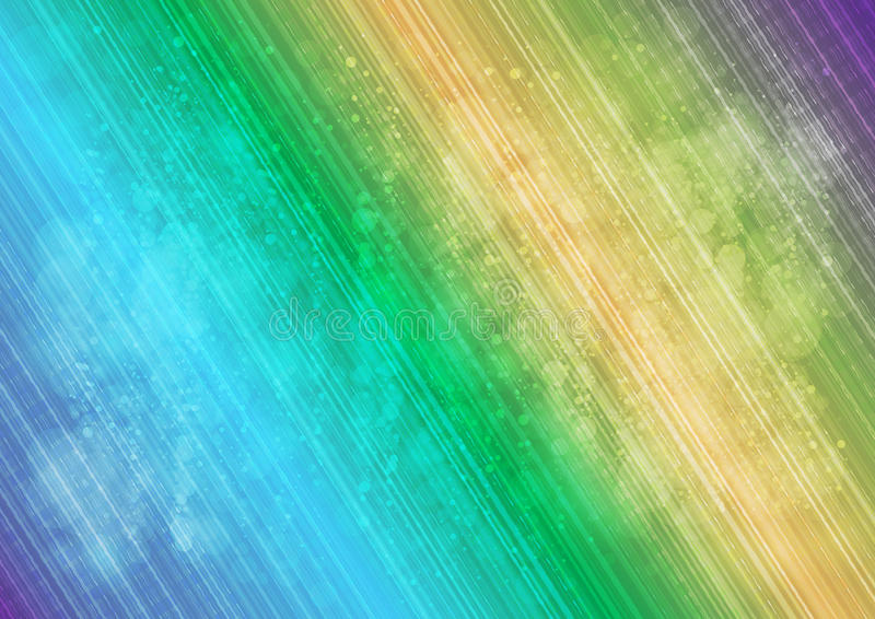 Ligne et halo multicolores abstraits background_03 illustration stock