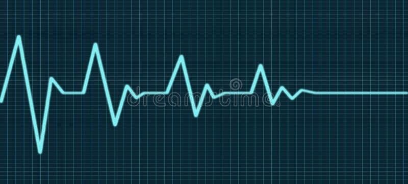 Ligne extrémité de battement de coeur de la vie illustration stock