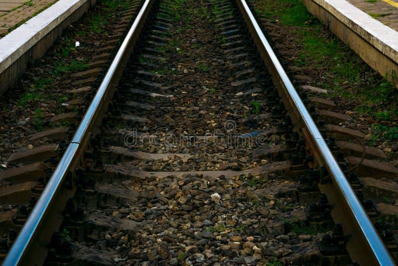 Ligne ferroviaire image libre de droits