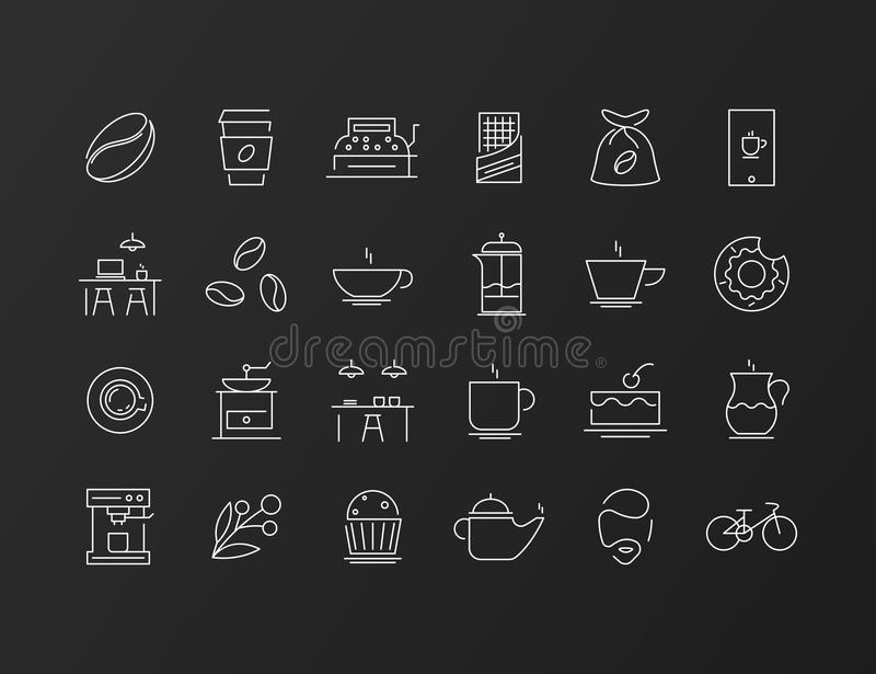 Ligne fine scénographie d'icône illustration stock