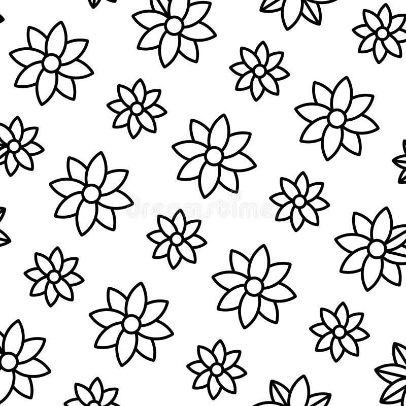 Ligne fleur de beauté avec le fond naturel de pétales illustration stock