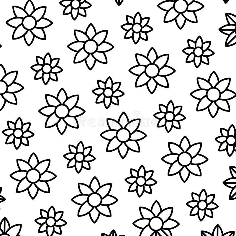 Ligne fleur de beauté et fond tropicaux de pétales illustration de vecteur