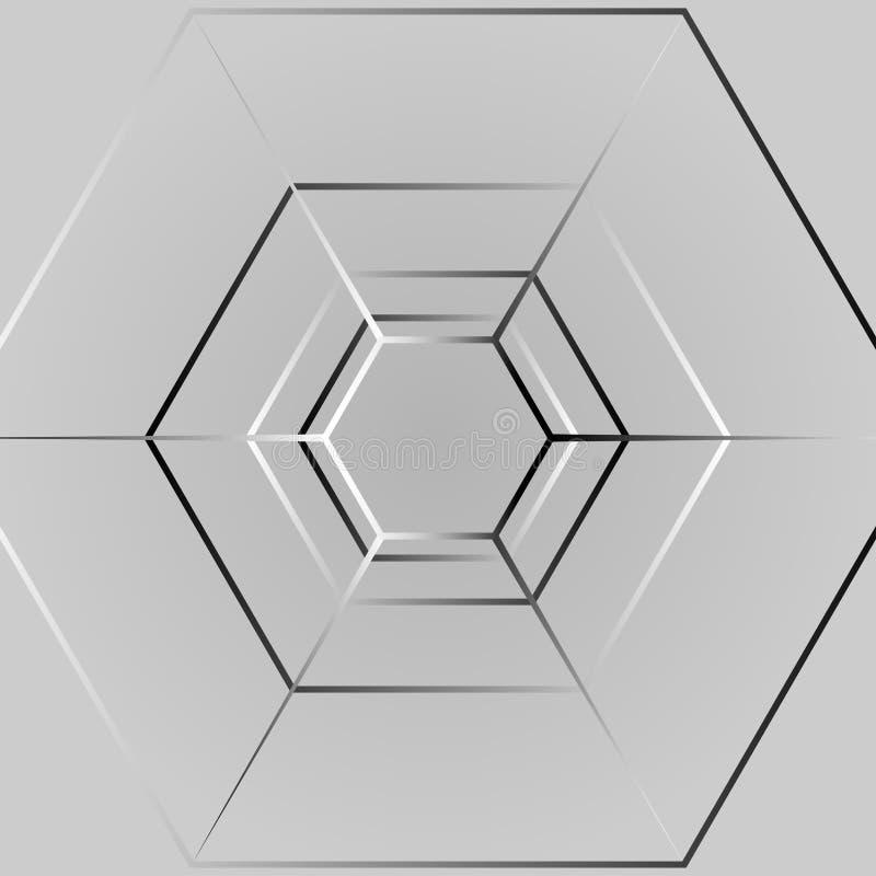 Ligne fond d'hexagone photographie stock