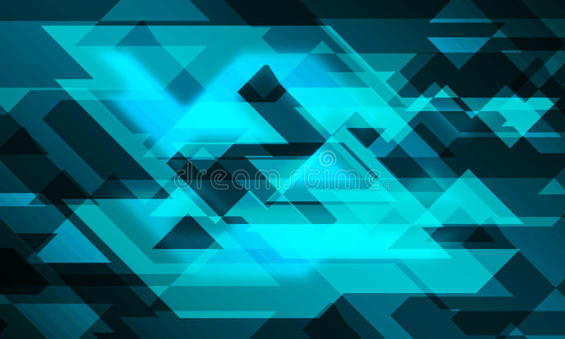 Ligne fond rougeoyant de la triangle 3D illustration stock