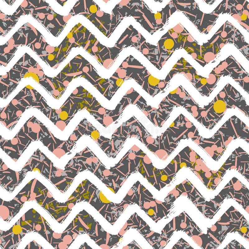 Ligne formes géométrique dispersée Conception abstraite de fond Dirigez la configuration sans joint  illustration libre de droits