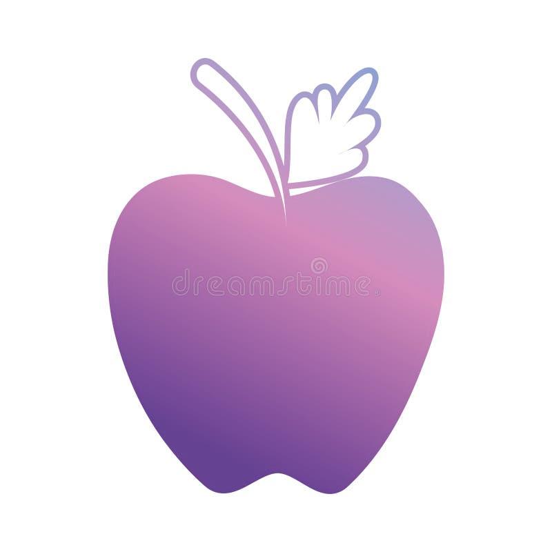 Ligne fruit et aliment biologique de pomme Delicious illustration libre de droits