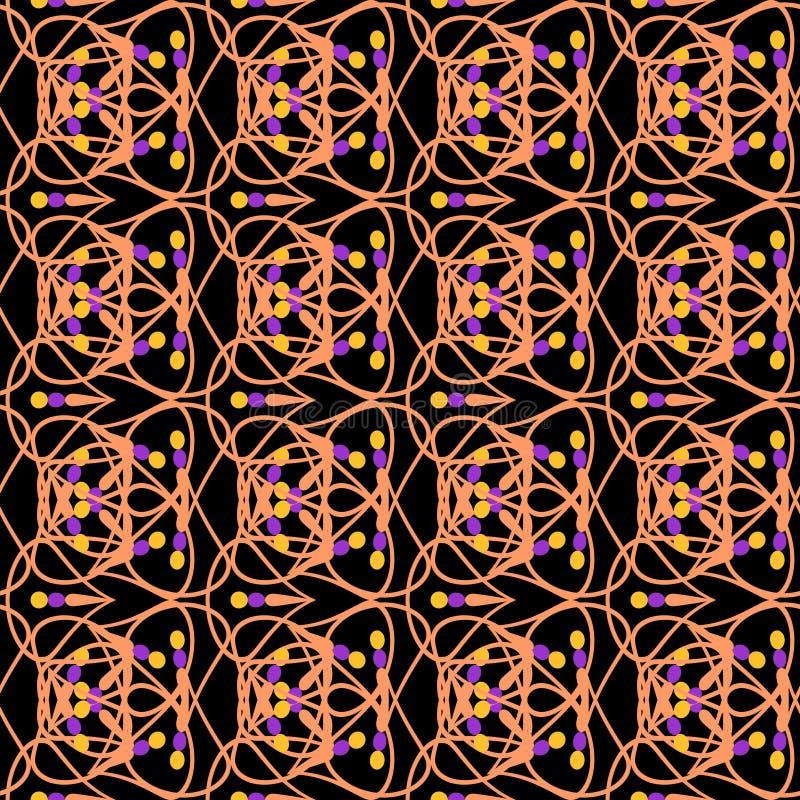 Ligne géométrique amende romantique de modèle illustration stock