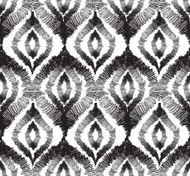 Ligne géométrique d'orienal floral sans couture abstrait de modèle illustration stock