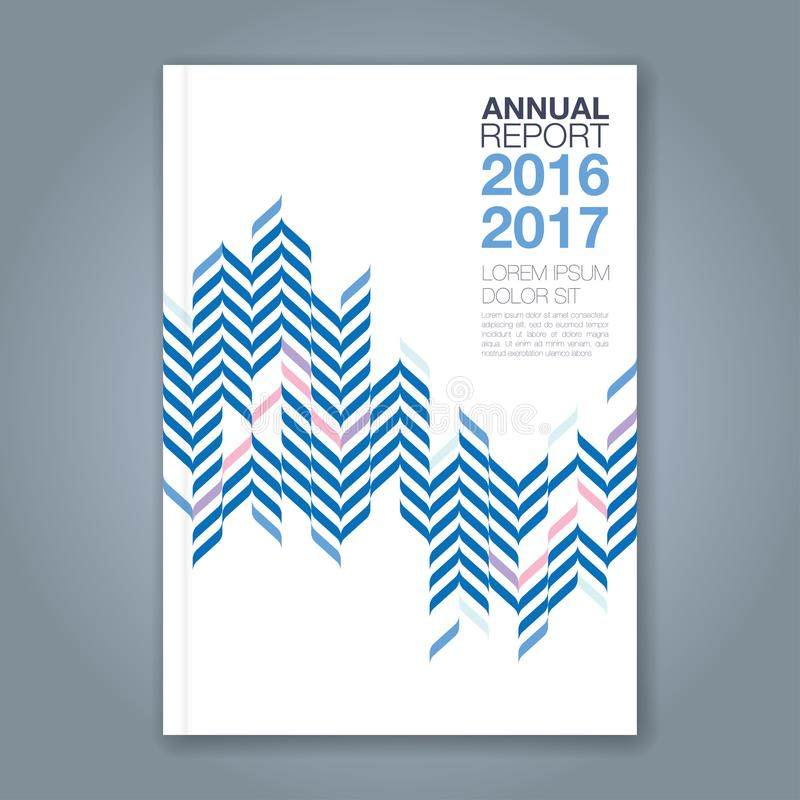 Ligne géométrique minimale abstraite fond pour le livre de rapport annuel d'affaires illustration de vecteur