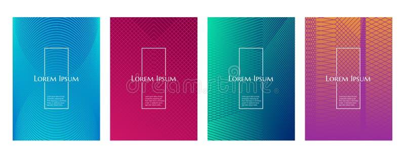 Ligne géométrique minimale calibre de gradient coloré de couverture de fond de modèle image stock