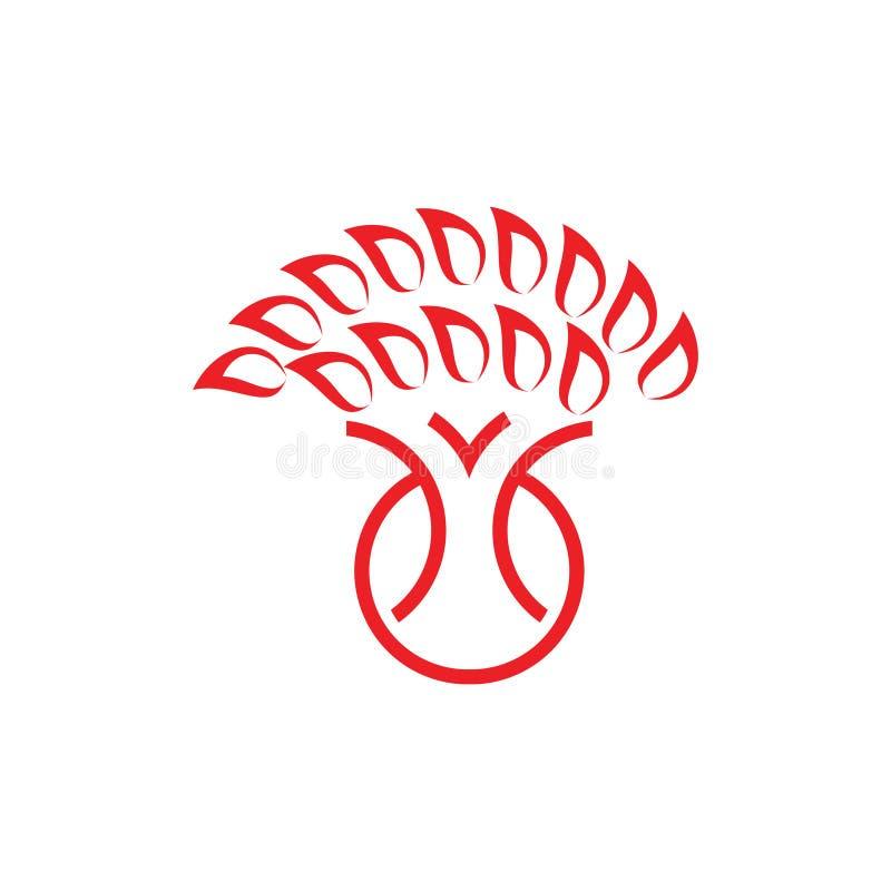 Ligne géométrique simple vecteur de tronc d'arbre de logo illustration libre de droits