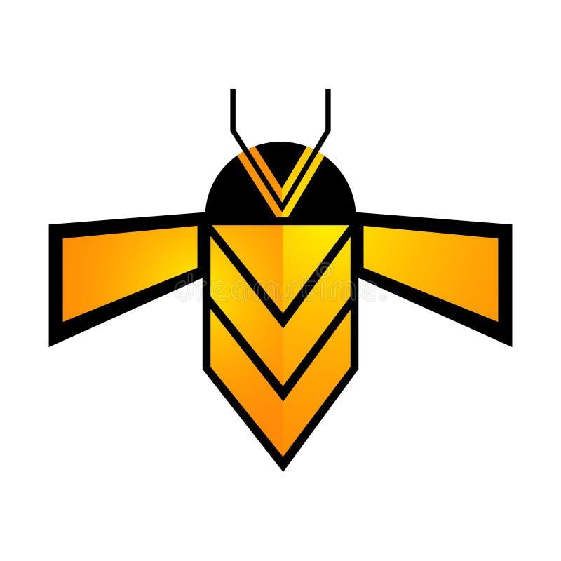Ligne g?om?trique conception de l'avant-projet d'abeille Vecteur graphique d'?l?ment de calibre de symbole illustration stock