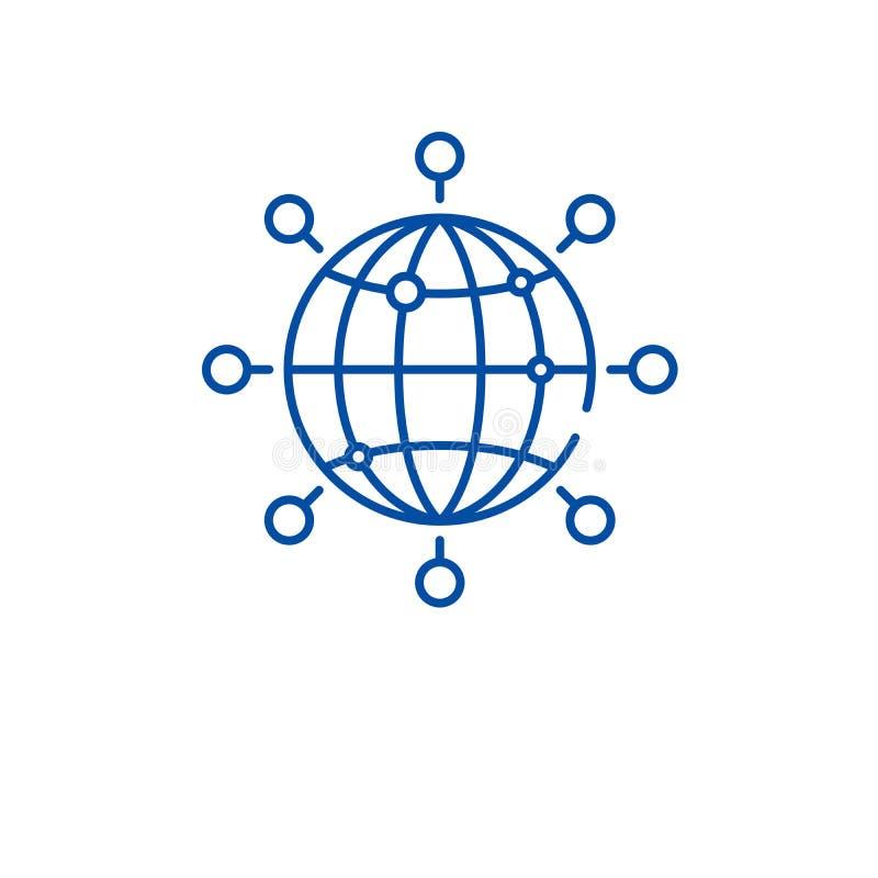 Ligne globale concept de connexion d'icône Symbole plat de vecteur de connexion globale, signe, illustration d'ensemble illustration de vecteur