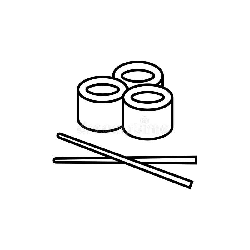 Ligne icône, éléments graphiques de sushi photo libre de droits