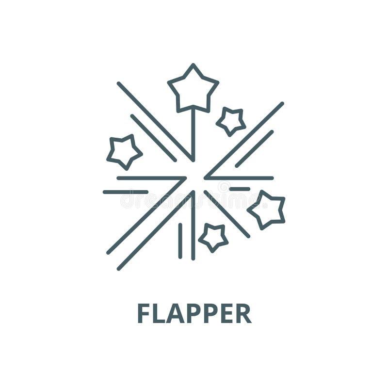 Ligne icône, concept linéaire, signe d'ensemble, symbole de vecteur d'aileron illustration stock