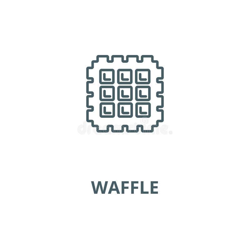 Ligne icône, concept linéaire, signe d'ensemble, symbole de vecteur de gaufre illustration de vecteur