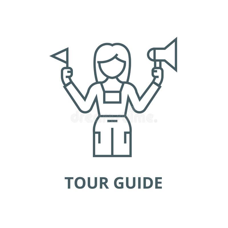 Ligne icône, concept linéaire, signe d'ensemble, symbole de vecteur de guide touristique illustration de vecteur