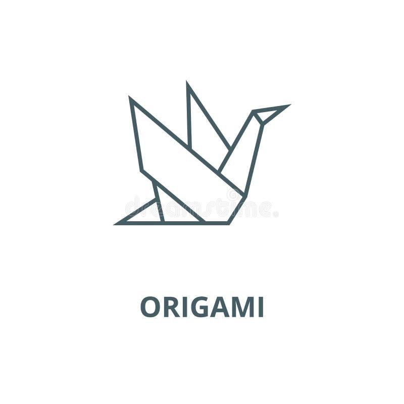 Ligne icône, concept linéaire, signe d'ensemble, symbole de vecteur d'origami illustration de vecteur