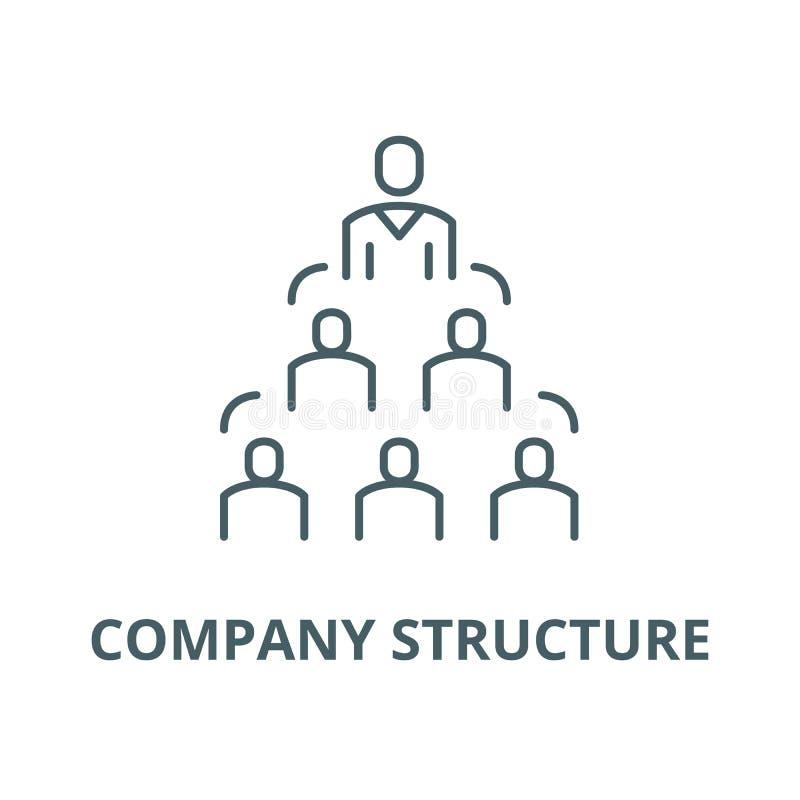 Ligne icône, concept linéaire, signe d'ensemble, symbole de vecteur de structure de l'entreprise illustration libre de droits