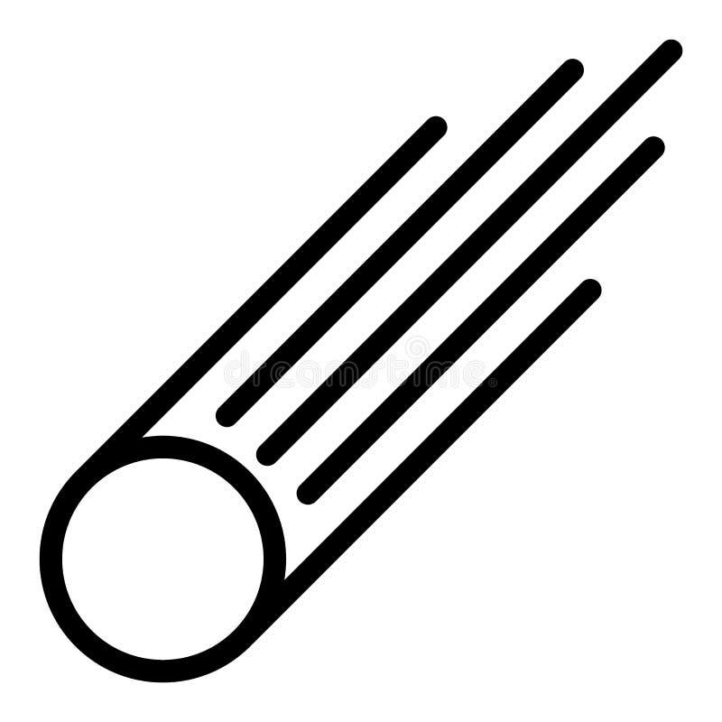 Ligne icône d'étoile filante Illustration de vecteur d'étoile filante d'isolement sur le blanc Conception de style d'ensemble de  illustration libre de droits