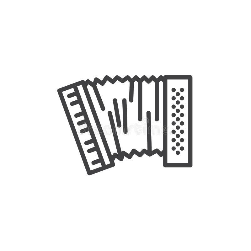 Ligne icône d'accordéon illustration de vecteur