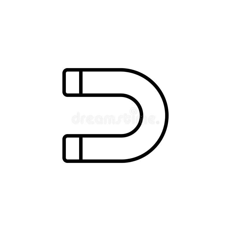 Ligne icône d'aimant sur le fond blanc illustration libre de droits