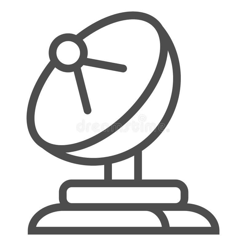 Ligne icône d'antenne parabolique Illustration de vecteur d'antenne d'isolement sur le blanc Conception de style d'ensemble de té illustration de vecteur
