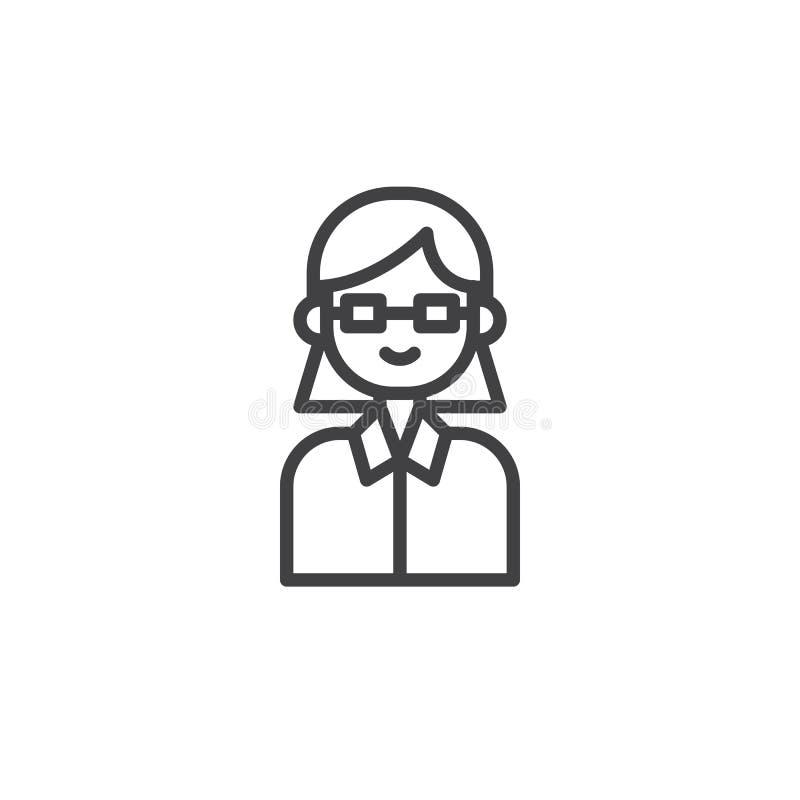 Ligne icône d'avocat illustration stock
